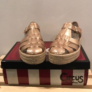 Circus by Sam Edelman rose gold espadrilles